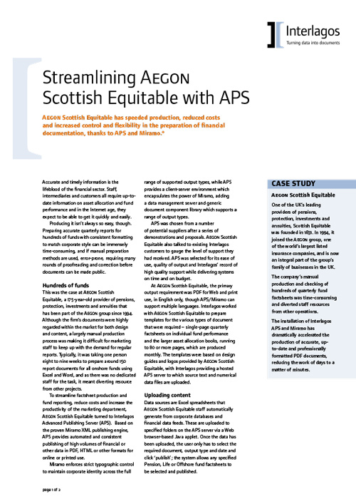 Aegon Scottish Equitable case study